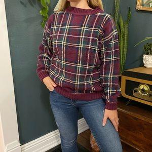 Vintage Mulberry Plaid Sweater